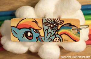 Rainbow Dash Keychain by Dragons-Garden