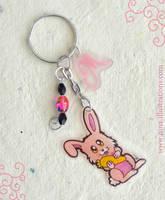 Bunny Keychain by Dragons-Garden