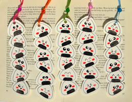 Onigiri Bookmarks by Dragons-Garden