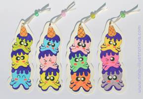 Squiddies Bookmarks by Dragons-Garden