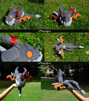Deathwing plushie by Dragons-Garden
