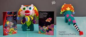 Kapitein Regenboog Plushie (Captain Rainbow) by Dragons-Garden
