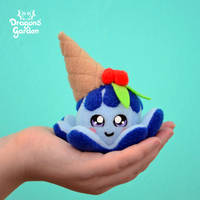 Mini Blue Icecream Squiddy by Dragons-Garden