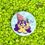 Ice Squiddy Hug Pin Button