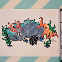 Underwater Dragon  by Dragons-Garden