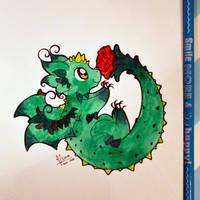Rose Dragon by Dragons-Garden