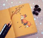 Inktober1 Autumn Foxy