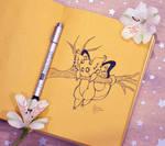 Inktober2 Buttefly Dragon