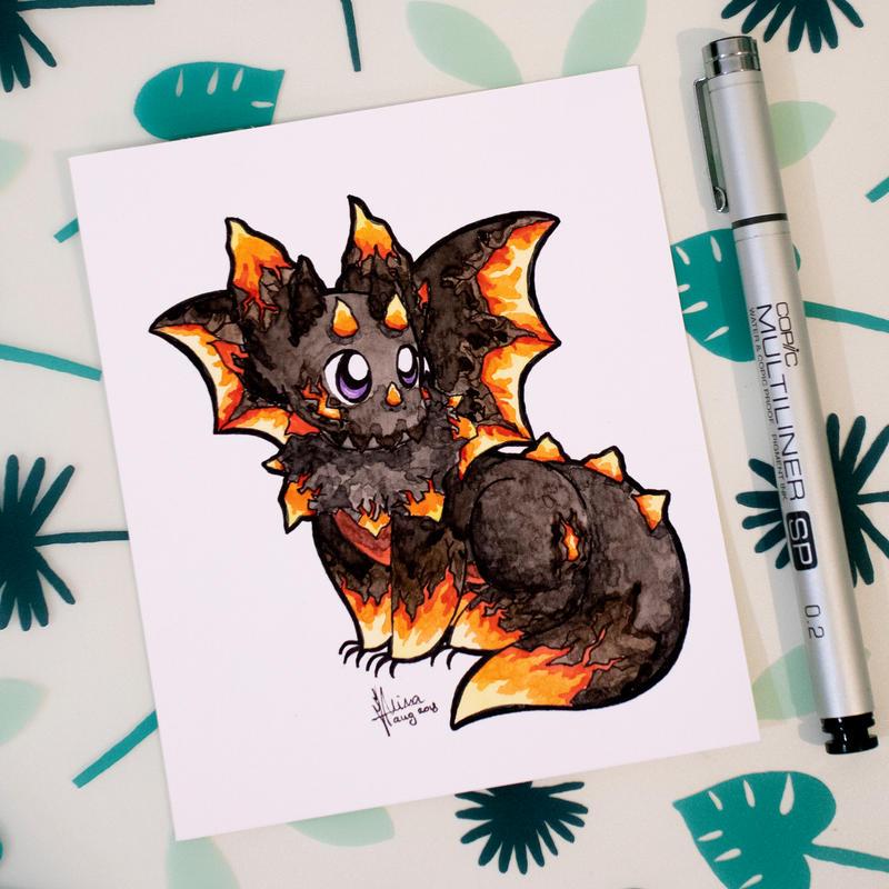 Dragons' Garden - Smaugust 14 Lava Dragon by Dragons-Garden