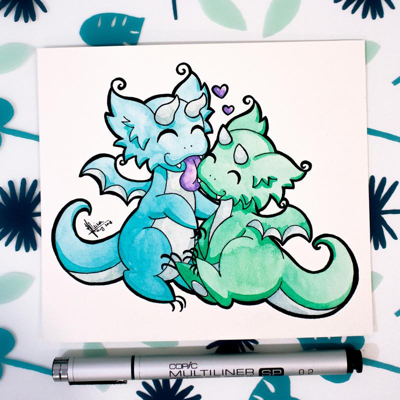 Dragons' Garden - Smaugust 15 Love Dragons by Dragons-Garden