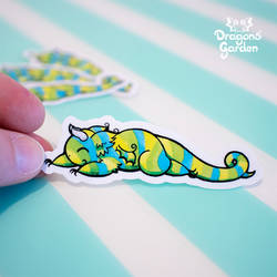 Dragons' Garden - Lazy Dragon Vinyl Sticker by Dragons-Garden