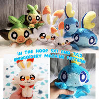 ITH Embroidery Pattern Grookey, Scorbunny, Sobble by Dragons-Garden