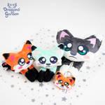 Fox plushies! by Dragons-Garden