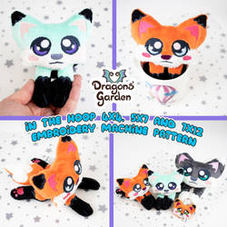 ITH Fox Embroidery Pattern by Dragons-Garden
