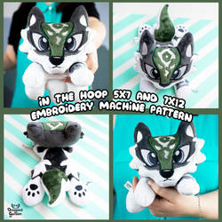 ITH Wolf Link Embroidery Pattern by Dragons-Garden