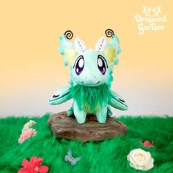 Dragons' Garden - Caya the Luna Moth Dragon Plush by Dragons-Garden