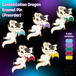 Constellation Dragon - Enamel Pin Preorder by Dragons-Garden