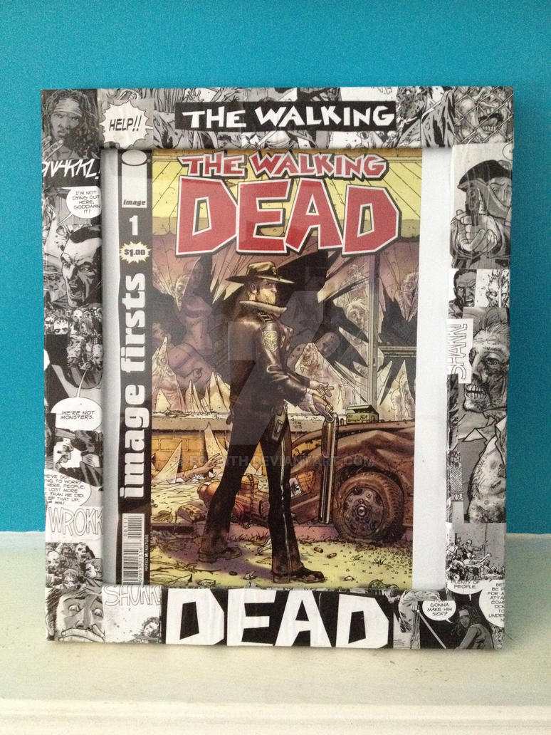 Commissioned Decoupage Walking Dead Photo Frame By Fordith On Deviantart