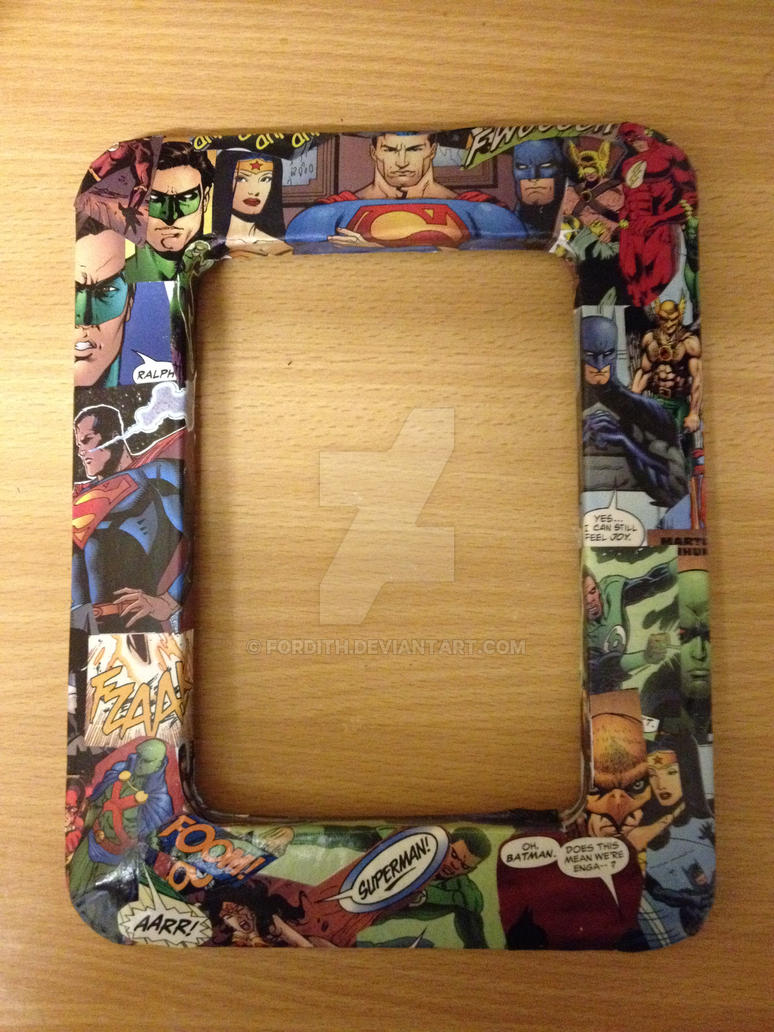 Decoupage picture frame frame design reviews easy decoupage frames favecrafts com source justice league of america decoupage photo frame by fordith jeuxipadfo Image collections