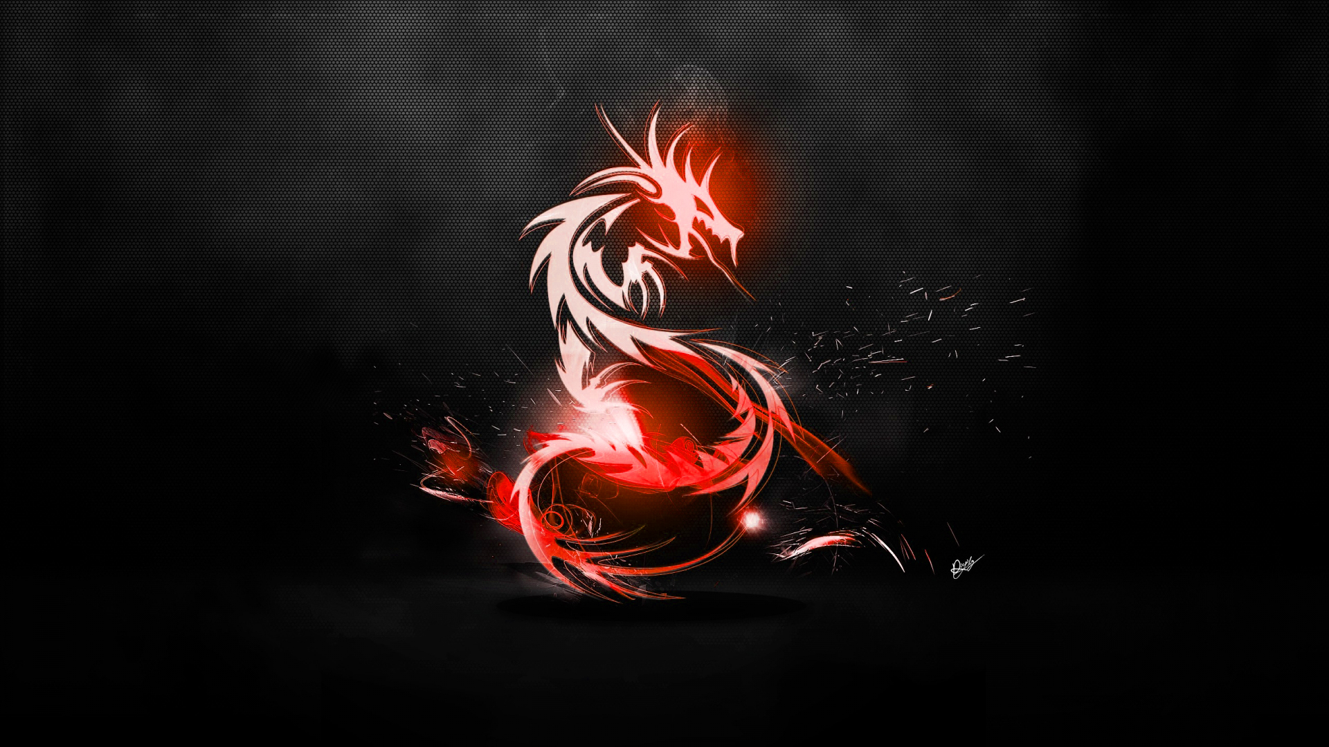 Abstract Dragon Wallpaper (Red/Carbon fibre black) by ...