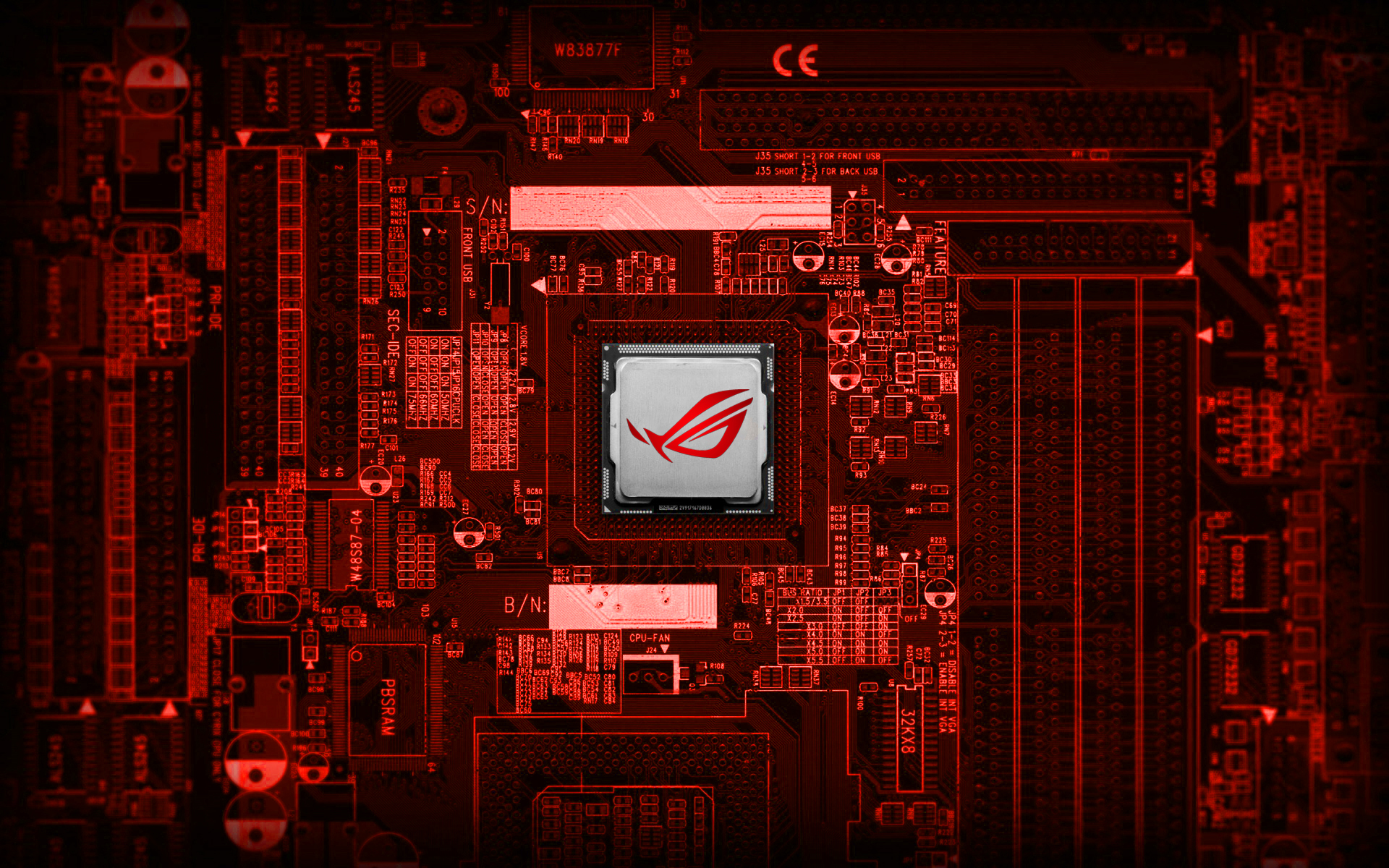 Republic Of Gamers ( ROG ) Chipset Wallpaper By