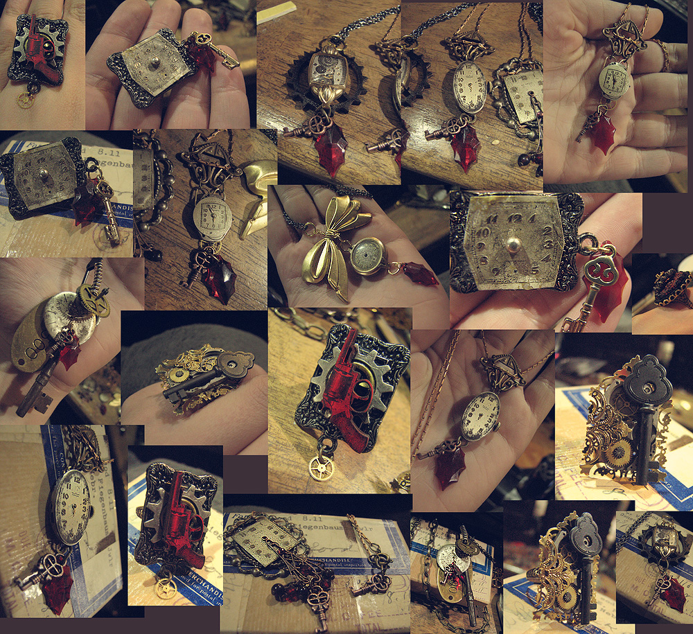 New Steampunk Jewelry by asunder