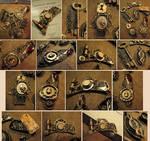 Clay + Metal Steampunk Jewelry