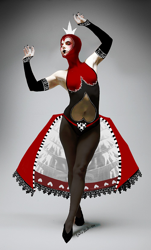 Queen of Hearts Costume Design by asunder