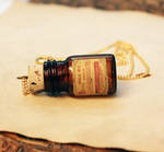 Amber Poison Bottle Necklace 3