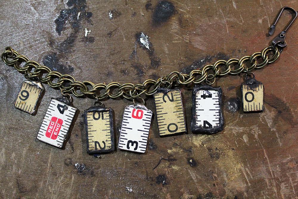 Vintage Ruler Charm Bracelet by asunder