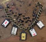 Vintage Ruler Charm Necklace