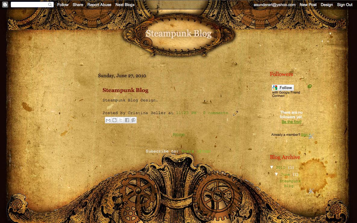Steampunk Gears Blog Design by asunder