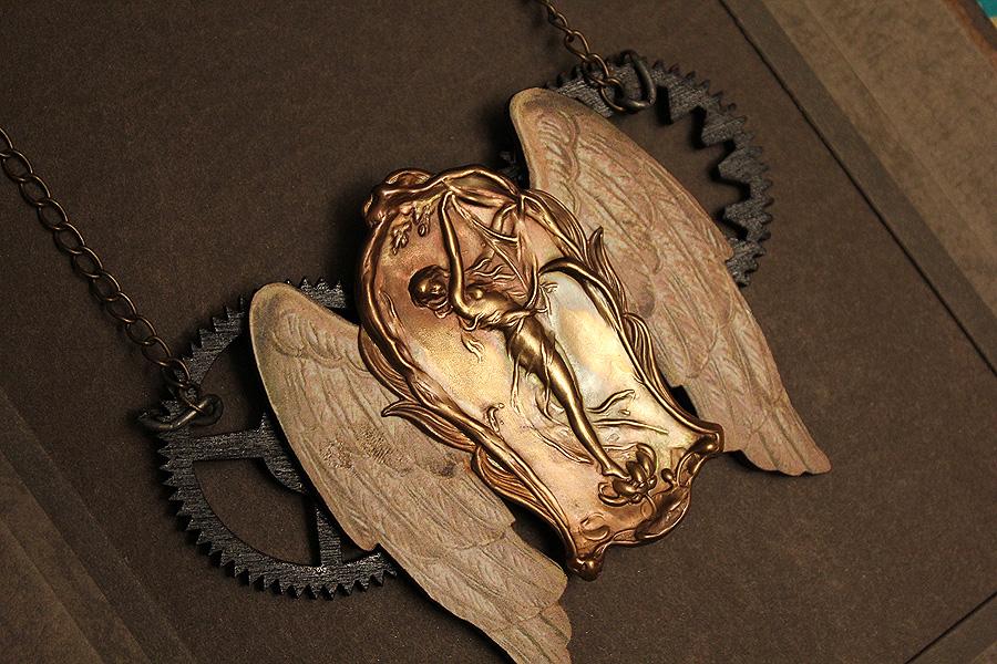 Art Nouveau Steampunk Necklace by asunder