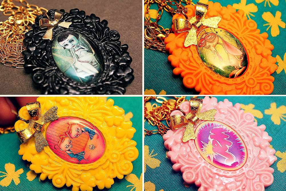 Resin Necklaces by asunder