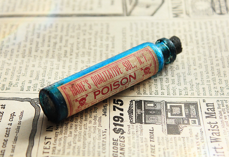 Blue Poison Bottle by asunder