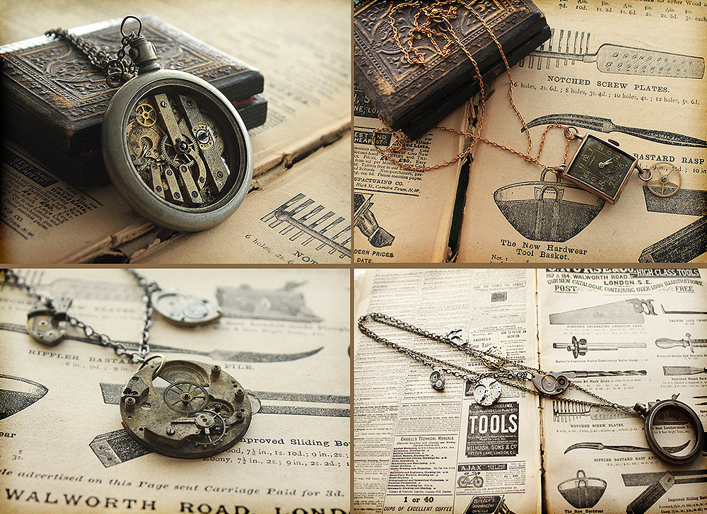 Steampunk Necklaces by asunder