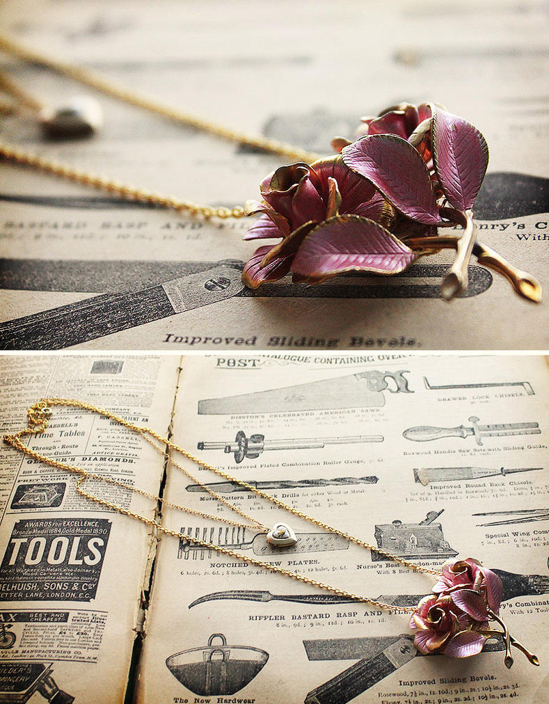 Vintage Assemblage Necklace by asunder