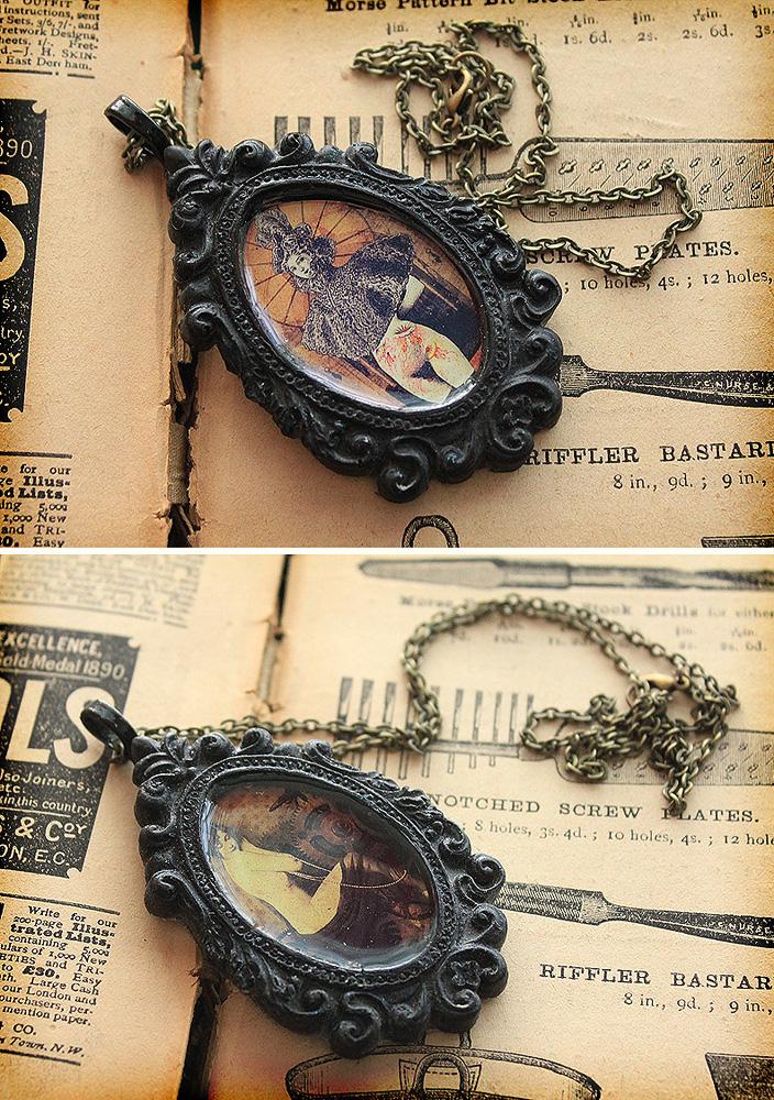 Ornate Frame Necklaces by asunder