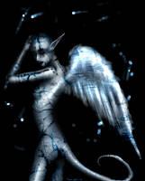 Blue Crackling Angel by asunder