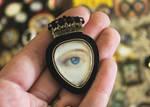 Lovers eye Acrylic Brooch by asunder