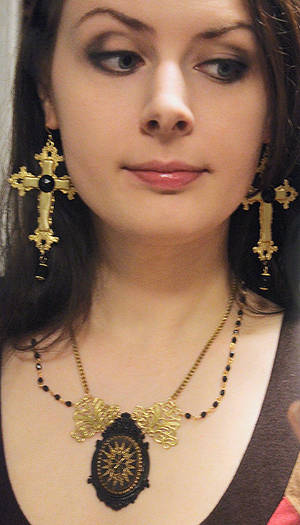 Wearing new jewelry pieces