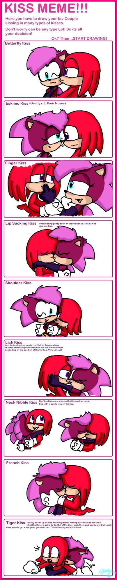 kiss meme Knuxiona by LeniProduction