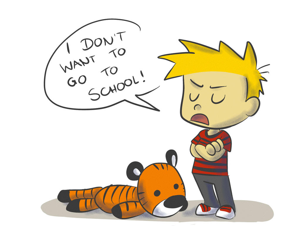 I don't want to go to school by LeniProduction on DeviantArt