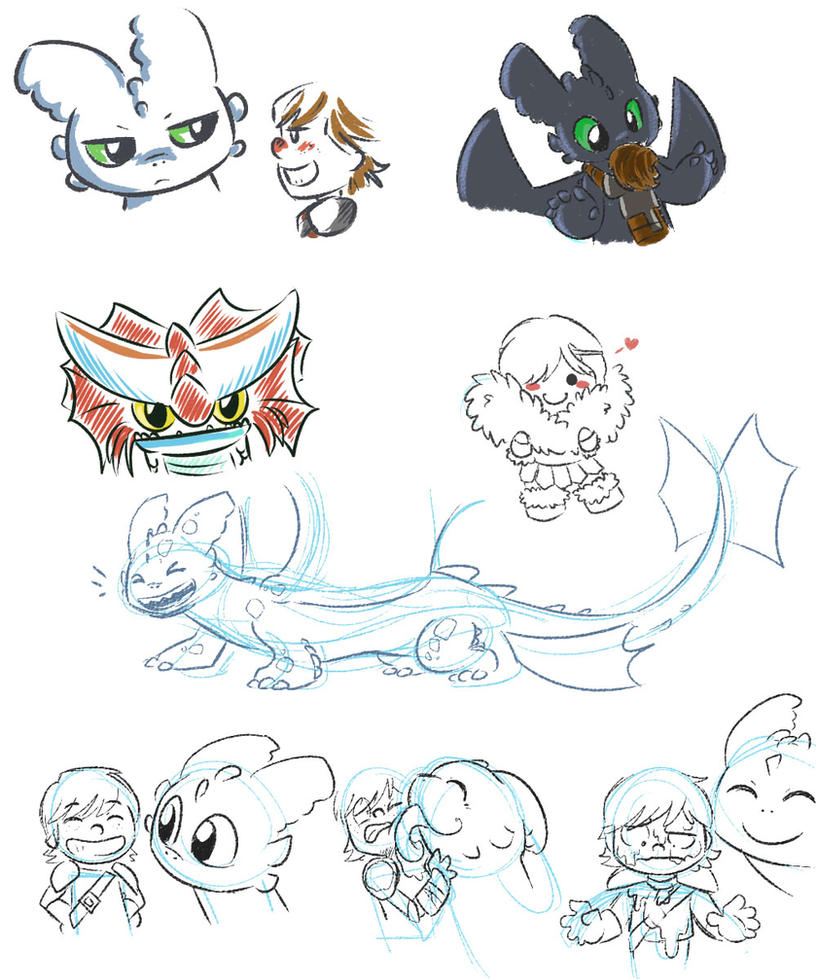 Httyd 2 Doodles by LeniProduction