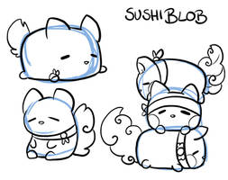 Sushiblob YCH *open* by LeniProduction