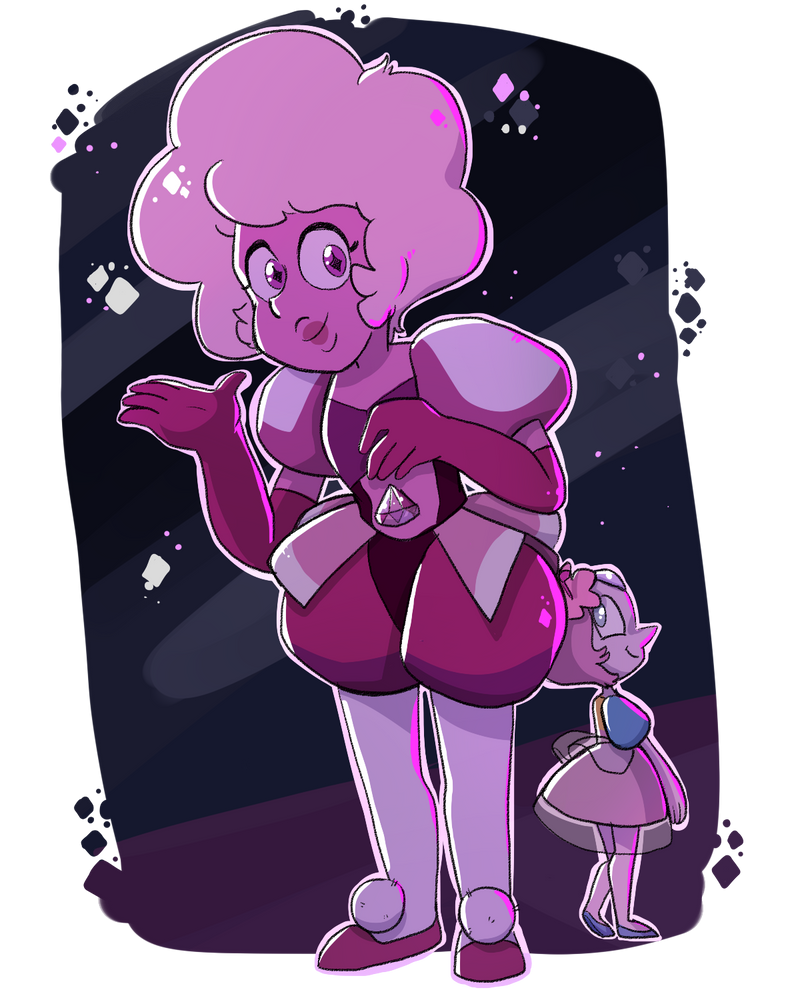 I fiiiiinally finished watching all the Steven Universe episodes I missed x'D and of course i had to draw a fanart after the last one UuU So here you have Pink and Pearl :3 STeven universe(c)CN/Reb...
