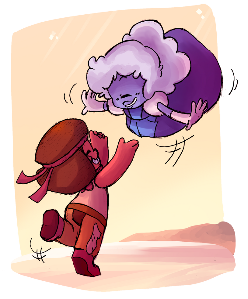 I promised that I would draw a fanart for the proposal too and here it is >u< Hnnnggg arn't those two just the cutest ;u; I love this Steven Bomb ;u; Steven Universe(c)Rebecca Sugar/Cartoon N...