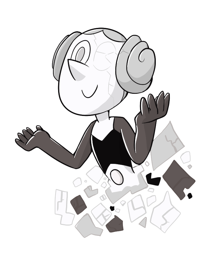 I just neeeeeded to draw her x'D White Pearl is so creepy xD I want to know her backstory and asjasklas I need more episodes  steven universe(c)Rebecca Sugar/Cartoon Network
