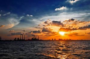 Sea sunset by JingWeiLiu
