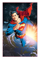 Space City Comiccon Superman VIP Lithograph Color by aethibert
